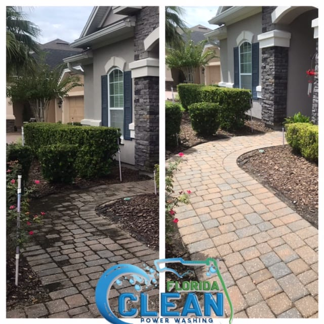 Pavers make up an essential part of your home's surrounding hardscape. Pavers comprise porous material that absorbs environmental substances such as grease and rainwater that gradually wears out its structural integrity. Exposure to environmental pollutants, grime, dirt, and sunlight will ultimately take a toll upon the surface of your pavers, leading to unsightly blemishes and safety issues. Despite using the best sealants during installation, most pavers will lose their protective layer within five years. Additionally, DIY resealing techniques may contain harmful chemicals that cause further damage to your pavers while contaminating surrounding areas. A regular pressure washing company may offer your home a deep clean, but professional paver resealing requires a specialized set of expertise, equipment, and products. In fact, the high pressure applied by standard washing companies may damage the delicate parts of your pavement. That's why you can trust a seasoned expert like Florida Clean to maintain your pavers in top form without the guesswork. Why Choose Florida Clean? Florida Clean uses only non-toxic, commercial-grade sealants, which restores your pavers' appearance and extends the life of its components. We manage each Florida Clean session with dedicated technicians qualified, insured, and bonded to provide your pavers with a thorough treatment process. Safety is a priority for our team, so we only use quality-tested machines and cleaning products that eliminate the most stubborn stains and contaminants from your precious pavers. With Florida Clean's paver Sealing services, homeowners can look forward to: Smoother and more presentable pavers (which improves a property's overall curb appeal) The prevention of weed growth or bug infestations emerging from paver joints Restored coloration (weathered pavers usually have a dull appearance) The Removal of trip hazards (i.e., chipped surfaces or dents) Additionally, each member of the Florida Clean team has a keen 