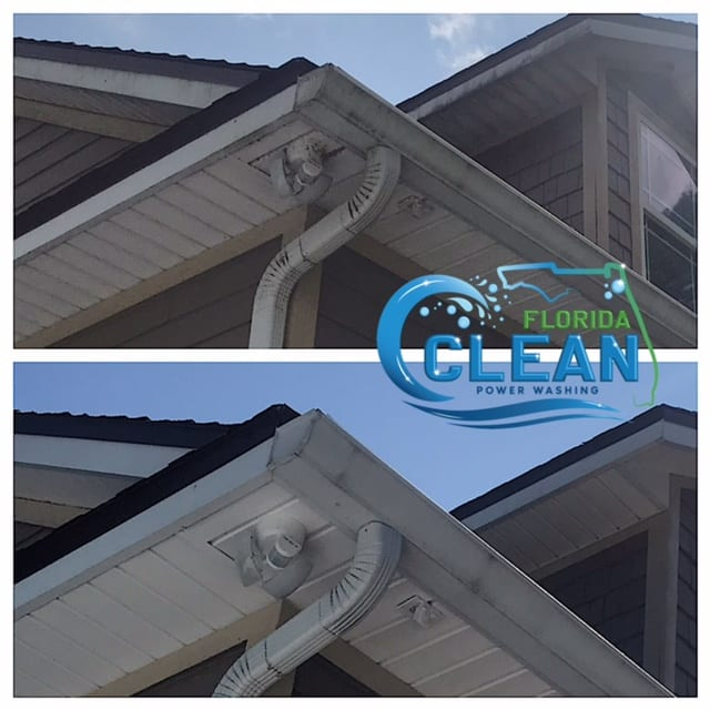 Routine gutter cleaning makes up significant part of residential maintenance. Gutters redirect rainwater from your precious property. However, environmental pollutants such as leaves and twigs may gradually obstruct the water flow. Soggy build-ups may create damp habitats that attract pest infestations, leading to the spread of infections and diseases. Nevertheless, despite their essential function, homeowners may neglect clogged gutters due to their inaccessibility. Poorly maintained gutters may result in flooding, which damages roofs, sidings, landscape, and even building foundations. While it is tempting to seek affordable DIY solutions, the unprotected climbing of ladders may lead to falls and severe injuries, while using the wrong products could cause further damage to gutter pipelines. By hiring a cleaning professional such as Florida Clean Power Washing, homeowners can look forward to clean and functional gutters without fuss or complications. Specialized technicians have the skills and equipment to handle gutter cleaning safely and effectively. Additionally, experts may provide basic repairs (such as caulking and slope adjustments) and gutter assessments to keep home structures safe, avoiding costly replacement works. A quick evaluation from a trained eye could save homeowners a great deal of cost by taking prompt action against further deterioration. Why Hire Florida Clean Power Washing? Florida Clean Power Washing provides premium gutter cleaning services that eliminate the most stubborn stains and pollutants like algae and moss. The company manages each cleaning session with the support of experienced, certified, and insured technicians who offer quality service and cleaning standards every time. We only use the most advanced pressure washing technology, which avoids damaging your roof's delicate parts while giving gutters a deep clean. The company only uses non-toxic cleaning solutions safe for the environment, plants, and occupants. Homeowners can look 